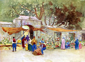 Flower Market in Scutari by Warwick Goble