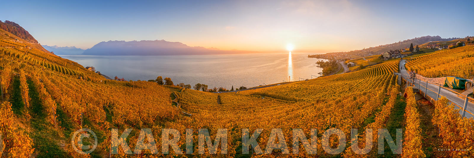 Golden Vineyards surrounding Lac Léman - Lavaux | Autumn