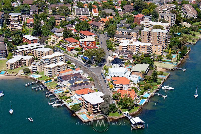 Sydney Aerial Photography Drummoyne Ferry Wharf