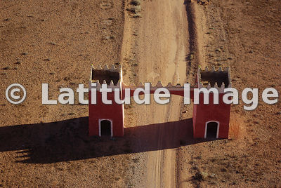 Gated Road To Tafroute, Morocco