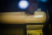 Bat production at the Louisville Slugger Museum, Louisville, Kentucky, USA