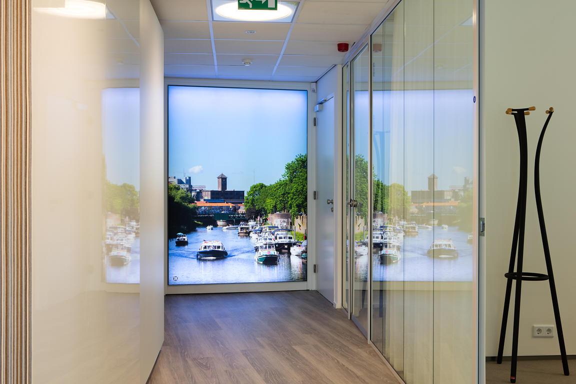 textiel in frame met ledverlichting 157 x 218 cm financieel advies centrum rabobank