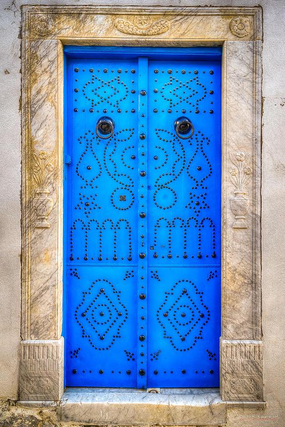 Sidi Bou Said traditional tunsian blue door.tif