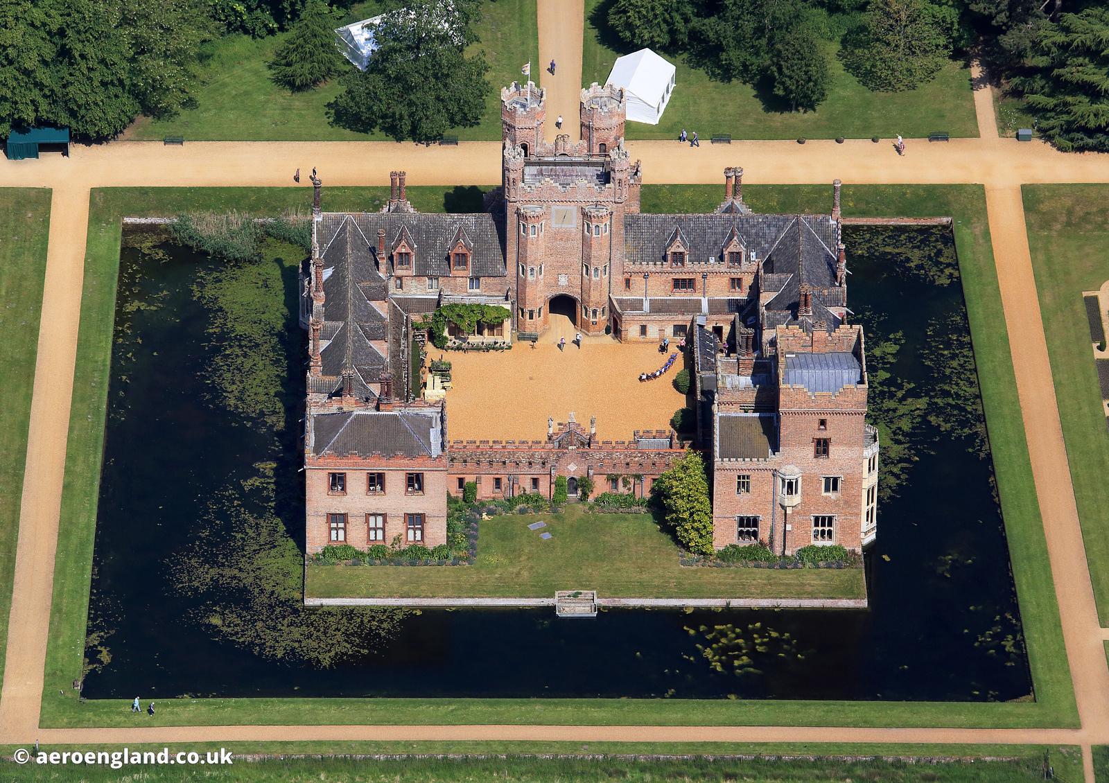 aeroengland | aerial photograph of Oxburgh Hall Norfolk