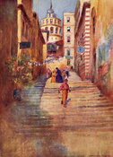 Step street in Galata by Warwick Goble