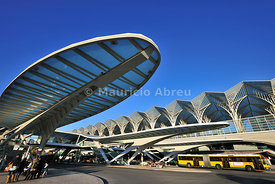 Orient Station, designed by the architect Santiago Calatrava. Lisbon, Portugal