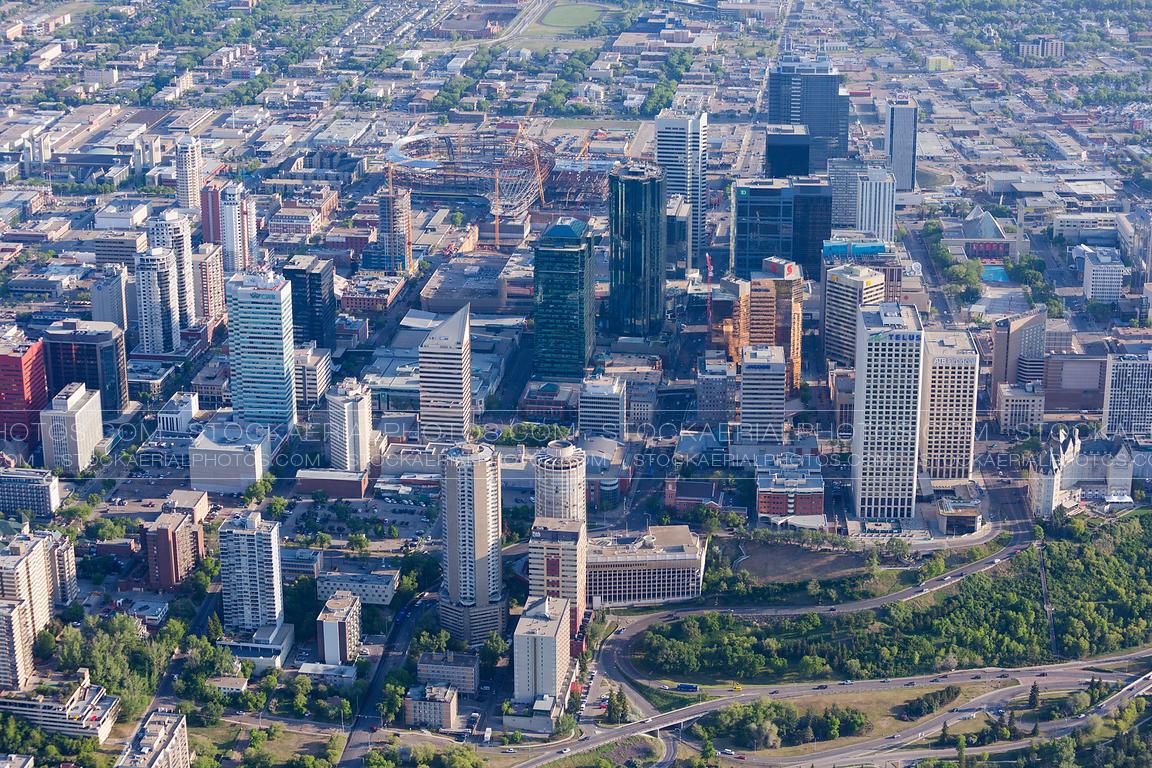 Aerial Photo Edmonton City Skyline