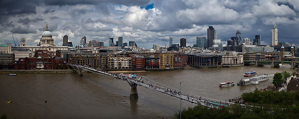 St Paul's and Millennium Bridge panorama