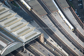 Aerial view over London Bridge