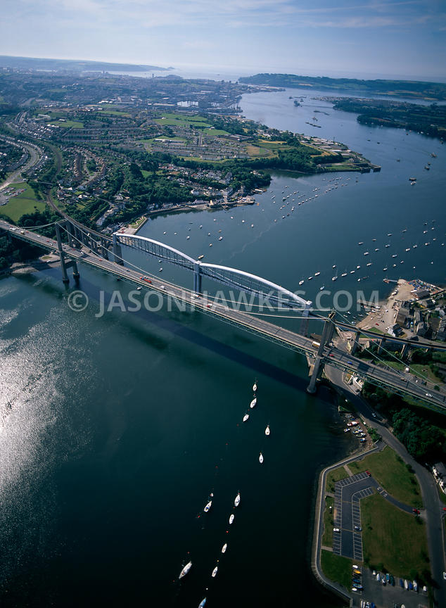 Sea Hawk Boats >> Aerial View. Tamar Bridge, Plymouth . Jason Hawkes