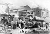 Fish market in Canton ca. 1856
