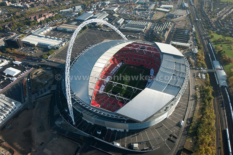 Wembley Stadium Aerial View Aerial View Over Wembley