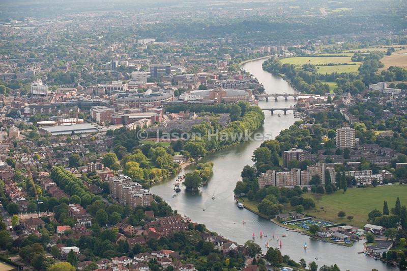 Aerial view kingston upon thames surrey jason hawkes