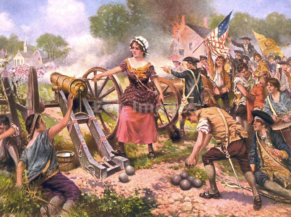 eon images molly pitcher at battle of monmouth