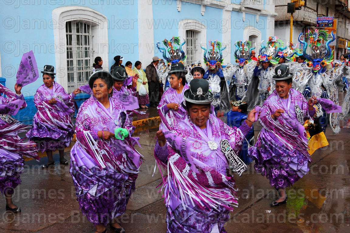 4978db222a Cholitas dancing the morenada at Virgen de la Candelaria festival