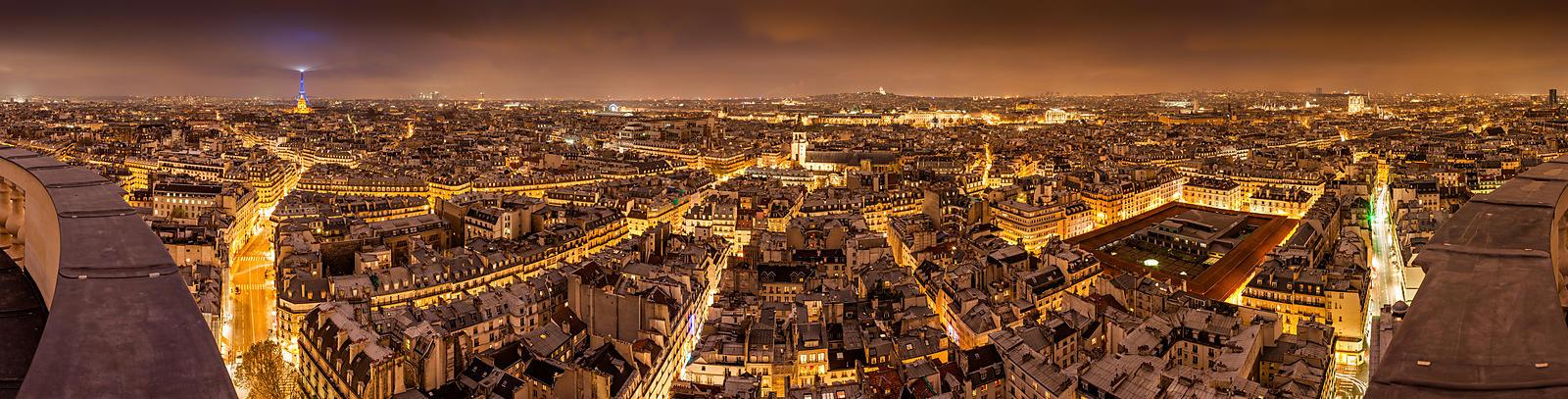 Phototh que arnaud frich panorama de paris la nuit les for Piscine de nuit paris