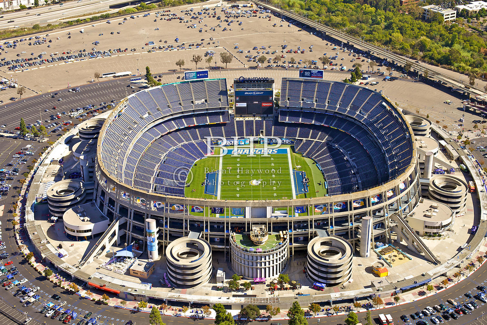 Brent Haywood Photography Qualcomm Stadium Aerial Photo