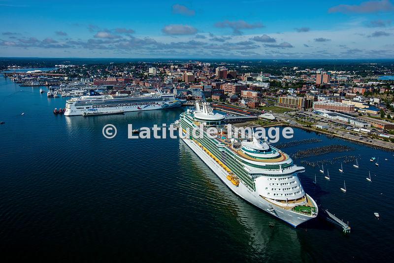 Latitude Image Liberty Of The Seas Cruise Ship In Portland Maine