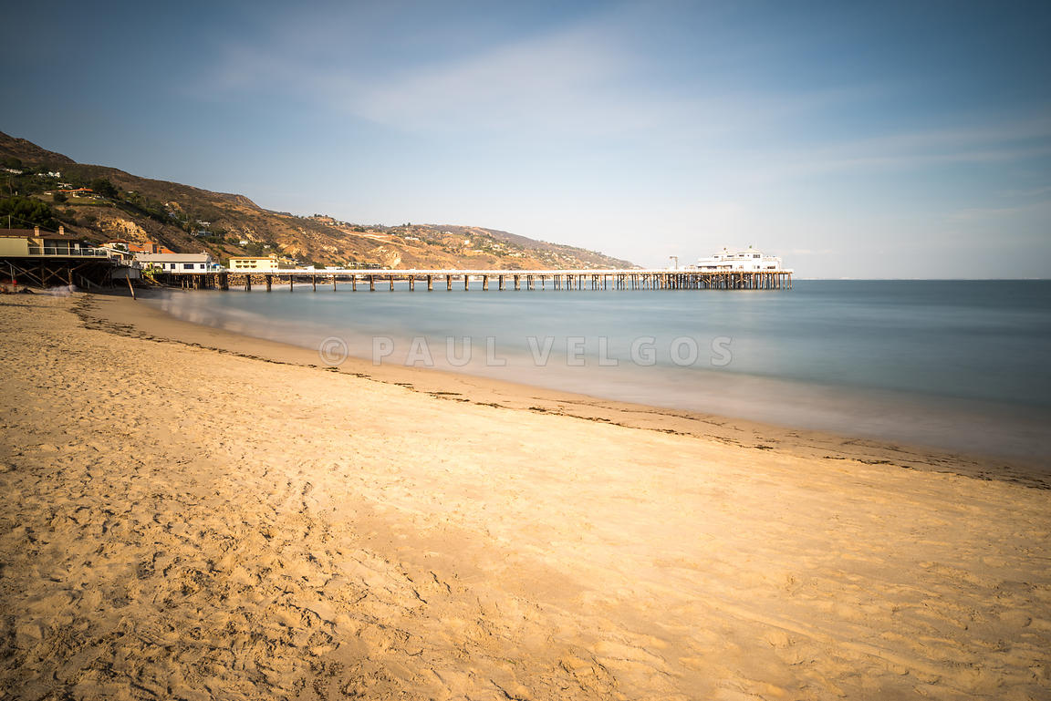 Image: Malibu Pier at Surfrider Beach in Malibu California Large ...