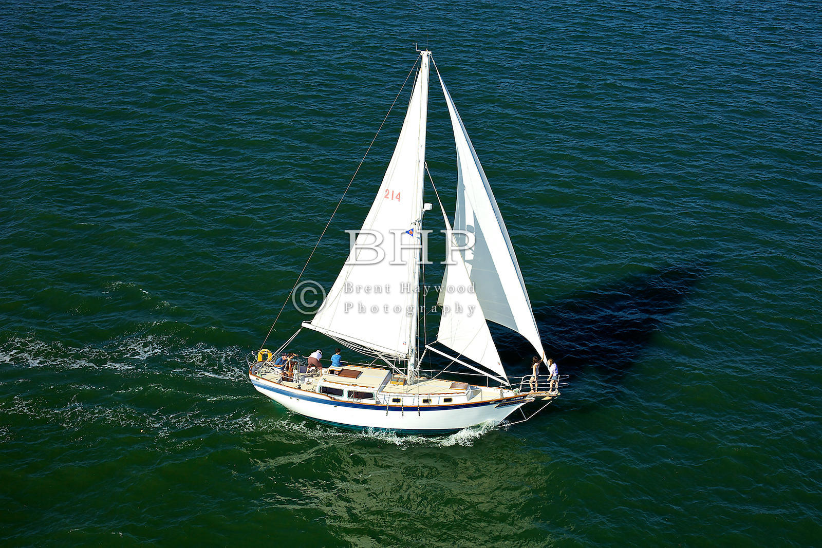 Brent Haywood Photography | San Diego Aerial Photo Sail Boat