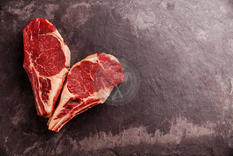The Picture Pantry Food Stock Photo Library | Heart shape Raw fresh ...