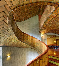 Vaulted staircase by Guastavino