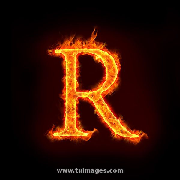 Fire Logo With Letter P: Stock Images Fire Alphabets, R Stock Photos