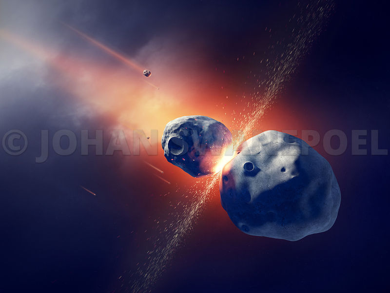 Johan Swanepoel Stock Images And Prints Asteroids Collide