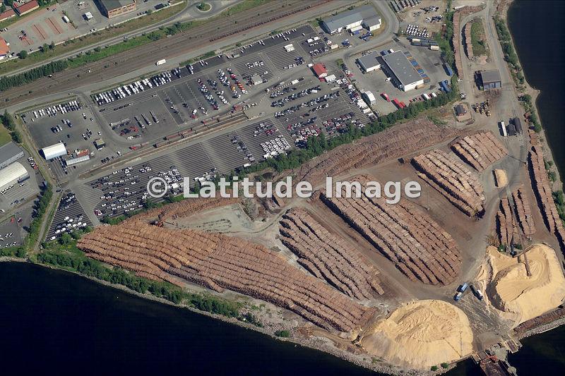 Latitude Image Timber Terminal Drammen Aerial Photo