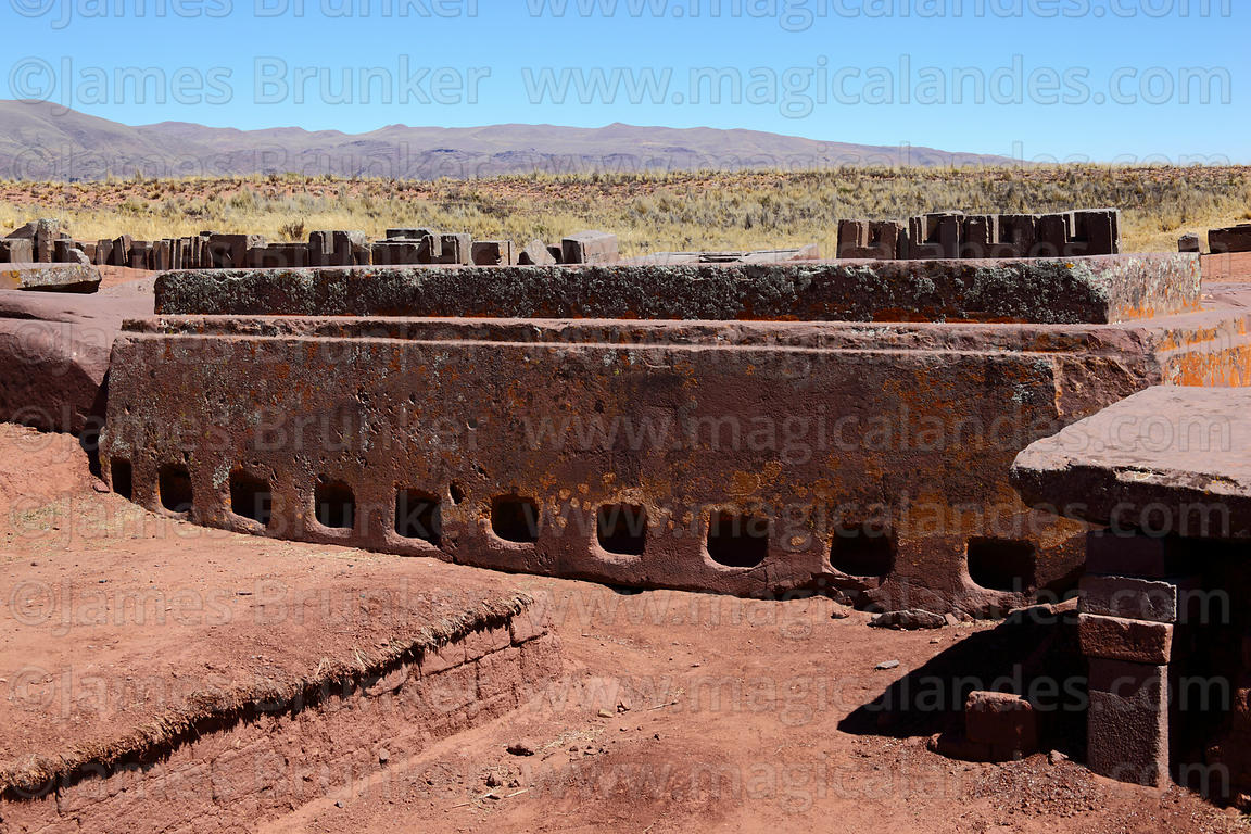 Magical Andes Photography Huge Carved Stone Block In Puma Punku