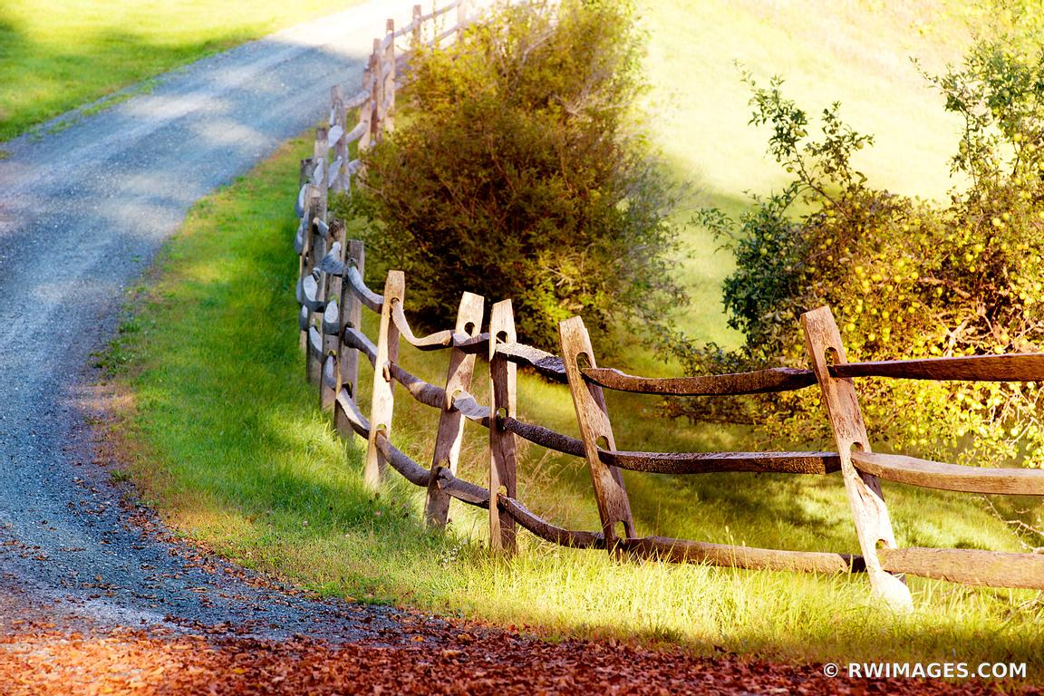 Photo Print of COUNTRY ROAD WOODEN FENCE VERMONT Print Framed ...