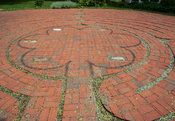 Brick Labyrinth with Peace Stones
