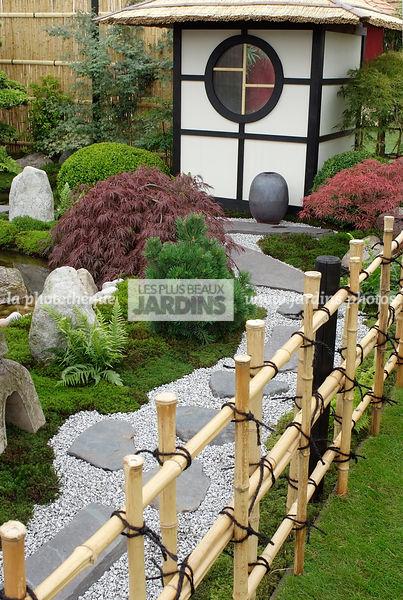 la phototh que les plus beaux jardins jardin style japonais jardin zen barri re fabriqu e. Black Bedroom Furniture Sets. Home Design Ideas