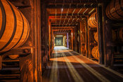 Aging area at Woodford Reserve, Versailles, Kentucky, USA