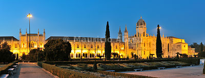 Jerónimos monastery, a Unesco World Heritage Site, at twilight. Lisbon, Portugal