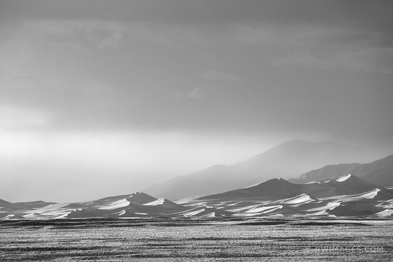59060382484f GREAT SAND DUNES NATIONAL PARK COLORADO BLACK AND WHITE