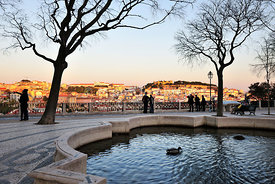 So Pedro de Alcntara belvedere, one of the best view points of the old city of Lisbon. Portugal