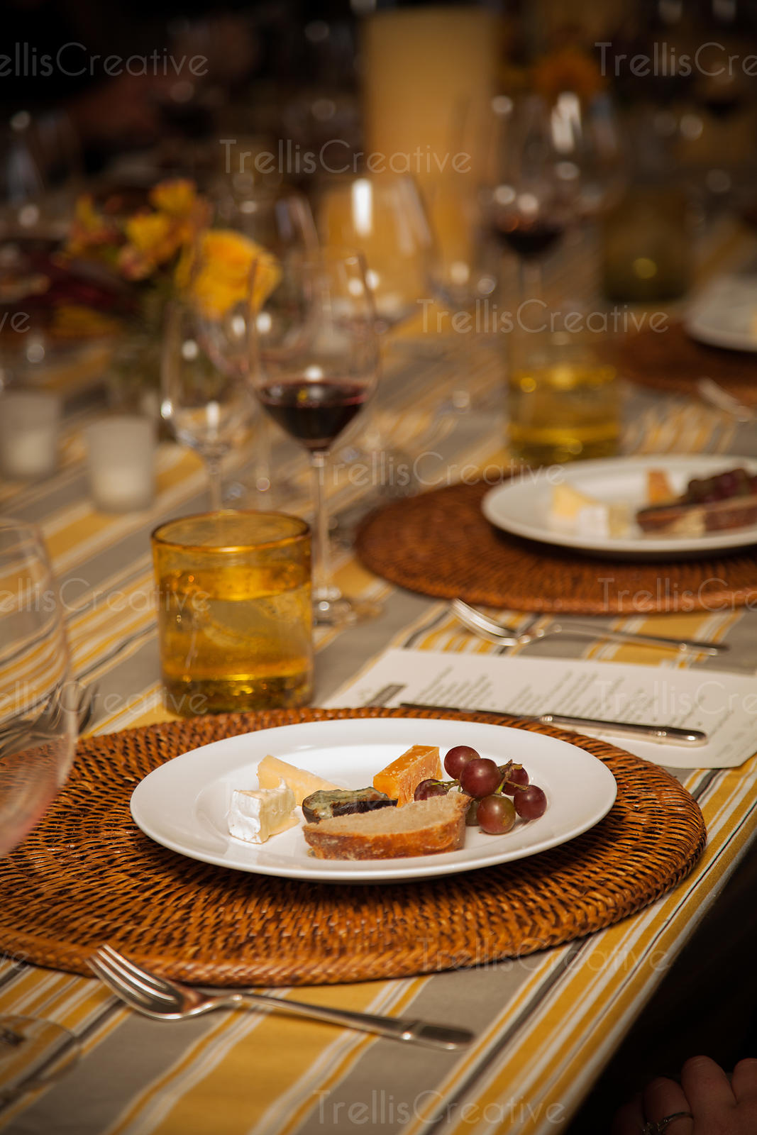 Inidual cheese plates served during the cheese course of a dinner party & Trellis Creative | Inidual cheese plates served during the cheese ...
