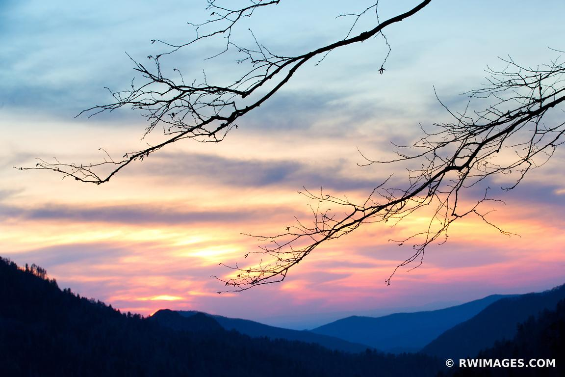 Photo print of sunset morton overlook smoky mountains for Photography prints to buy