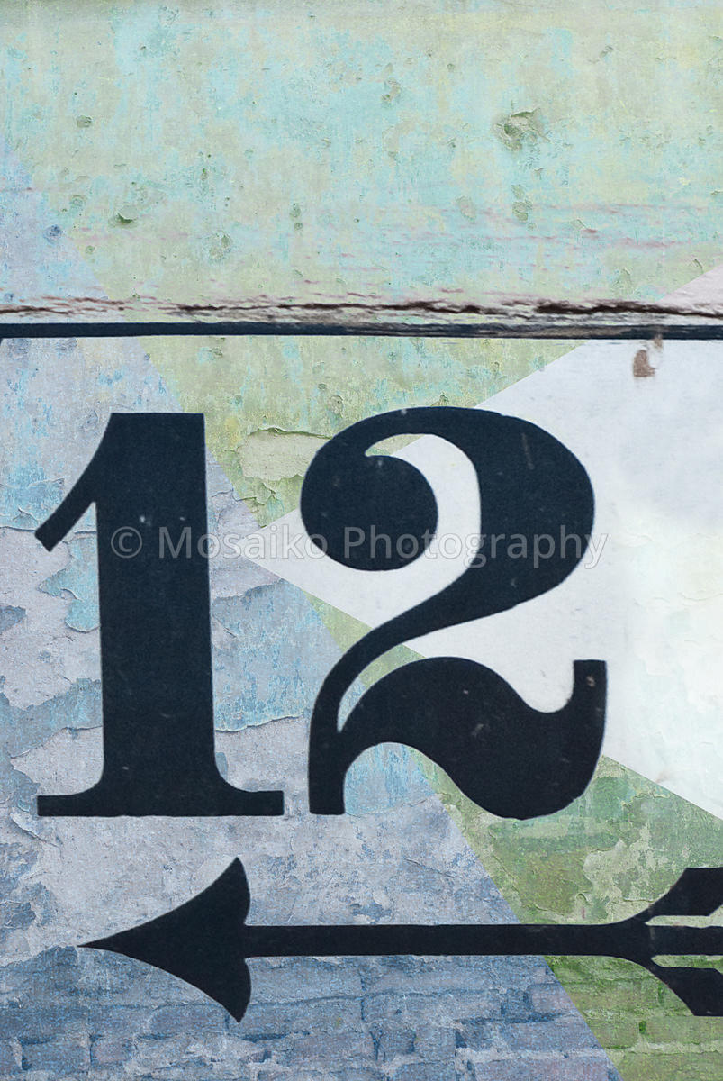 Mosaiko Photography | old fashioned number twelve on textured ...