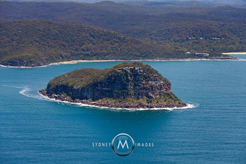 Sydney Aerial Photography Lion Island Broken Bay