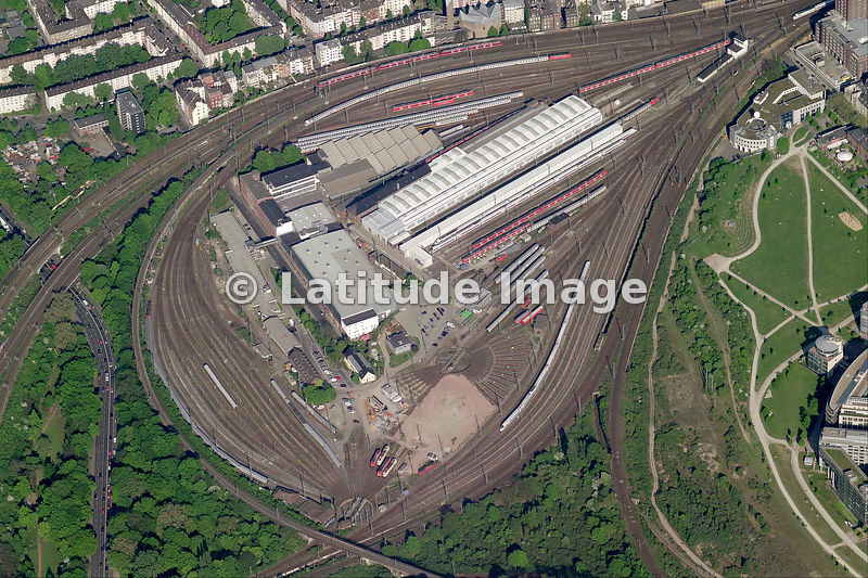 Latitude Image Railway Depot Cologne Aerial Photo