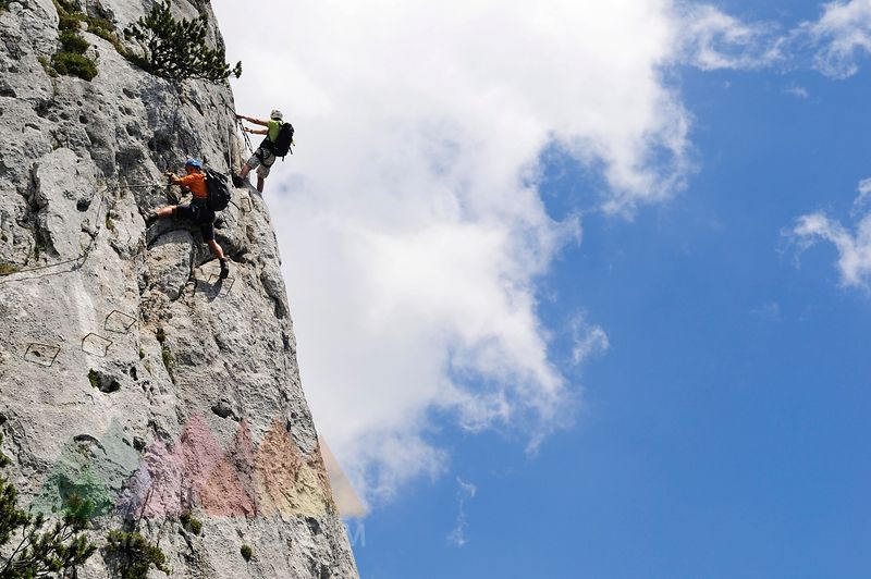 Klettersteig Chiemgau : Austrianimages.com schuasta gangl gamssteig klettersteig