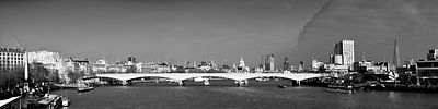 Thames panorama, weather front clearing