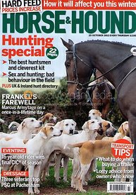 Horse &amp; Hound cover photography, 25th October 2012