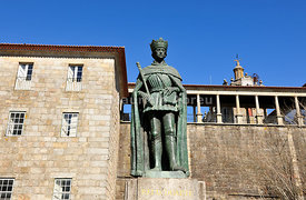 King Dom Duarte, historical center of Viseu. Portugal