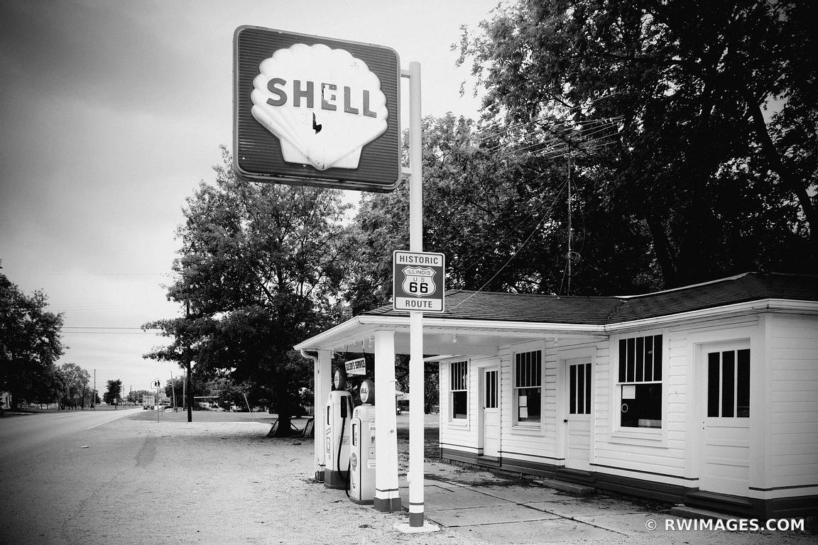 Photo Print Of Route 66 Mount Olive Illinois Soulsbys Shell Gas