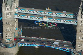 Olympic Rings on Tower Bridge
