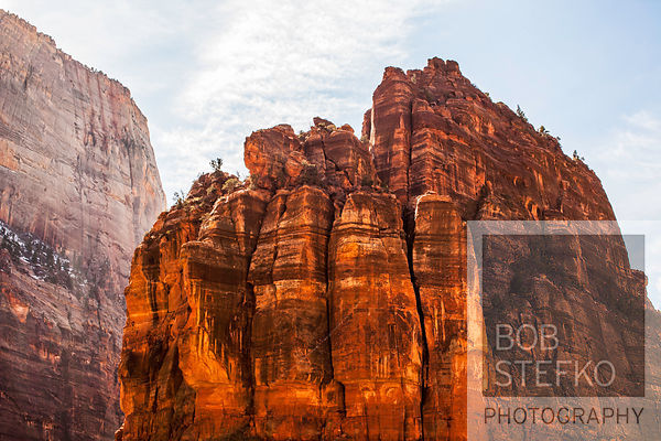 Angels Landing rock formation, Zion National Park, Utah, USA