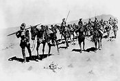 Francisco Vásquez de Coronado and his men on the march